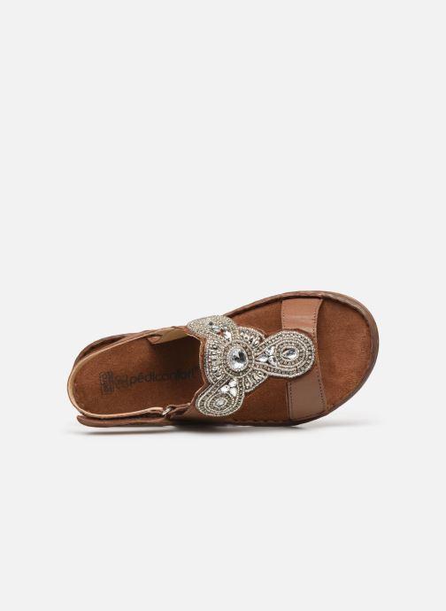 Sandali e scarpe aperte Pédiconfort Sophie - Sandales à aérosemelle extra larges Marrone immagine sinistra