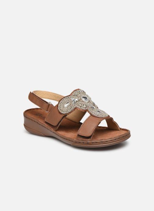 Sandali e scarpe aperte Pédiconfort Sophie - Sandales à aérosemelle extra larges Marrone vedi dettaglio/paio