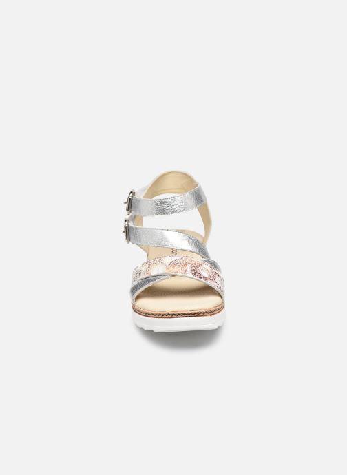 Sandalen Pédiconfort Inès - Sandales bicolores à mémoire de forme silber schuhe getragen
