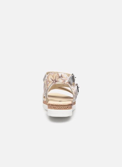 Sandalen Pédiconfort Inès - Sandales bicolores à mémoire de forme silber ansicht von rechts