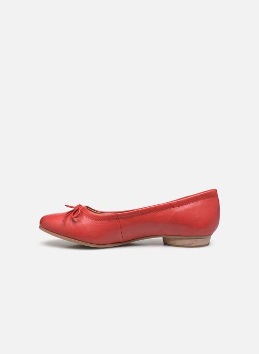 Bailarinas Pédiconfort Céline - Ballerines plates largeur confort Rojo vista de frente