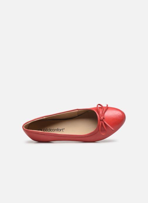 Bailarinas Pédiconfort Céline - Ballerines plates largeur confort Rojo vista lateral izquierda