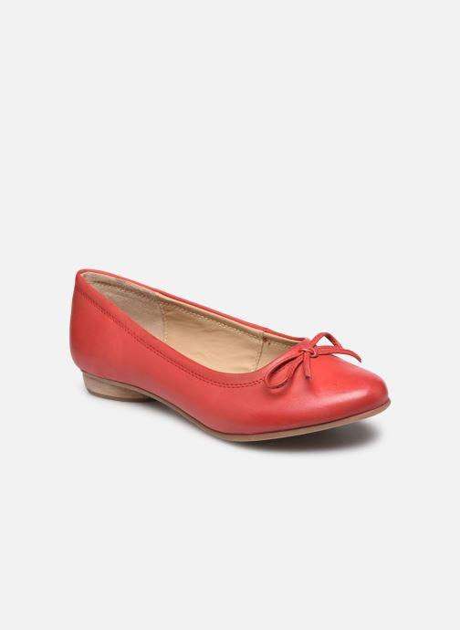 Bailarinas Pédiconfort Céline - Ballerines plates largeur confort Rojo vista de detalle / par