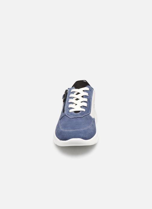 Deportivas Pédiconfort Clarisse - Baskets avec zip côté, aérosemelle amovible Azul vista del modelo