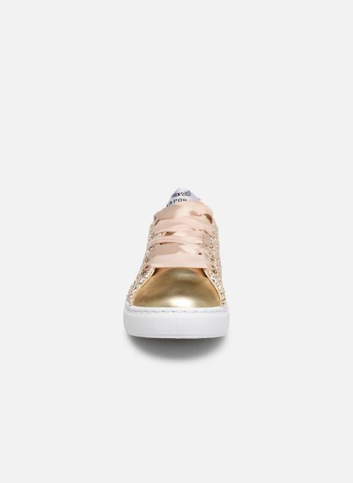 Baskets Kaporal Sherifa Or et bronze vue portées chaussures