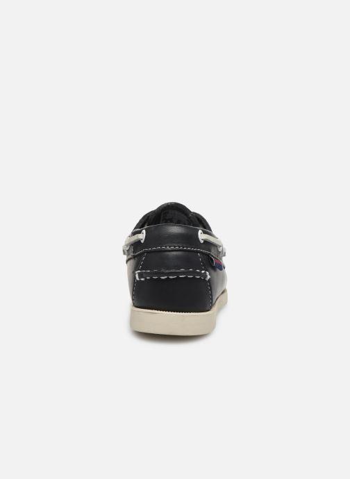 Zapatos con cordones Sebago PORTLAND K Azul vista lateral derecha