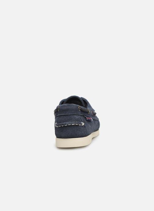 Zapatos con cordones Sebago PORTLAND SUEDE K Azul vista lateral derecha