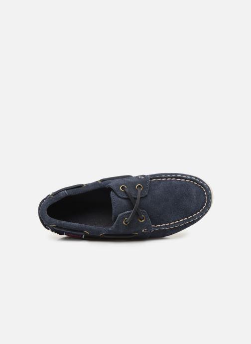 Zapatos con cordones Sebago PORTLAND SUEDE K Azul vista lateral izquierda