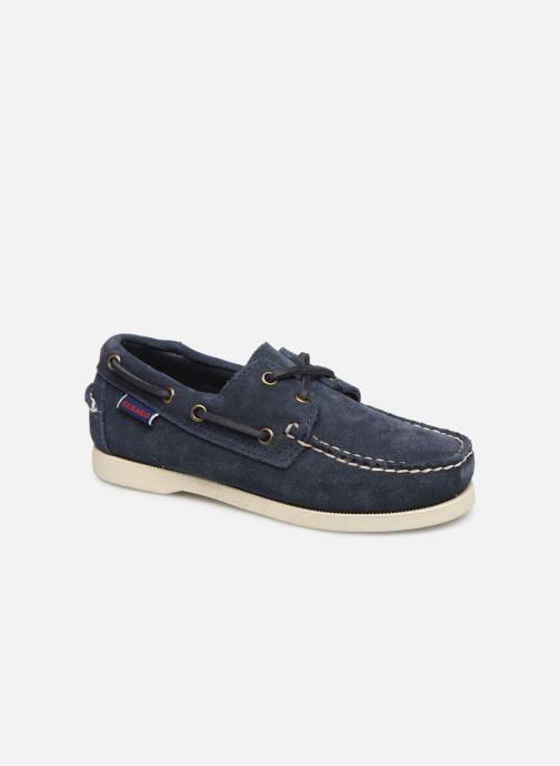 Chaussures à lacets Sebago PORTLAND SUEDE K Bleu vue détail/paire