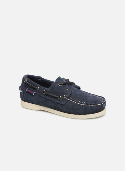 Zapatos con cordones Sebago PORTLAND SUEDE K Azul vista de detalle / par