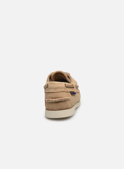 Chaussures à lacets Sebago PORTLAND SUEDE K Marron vue droite