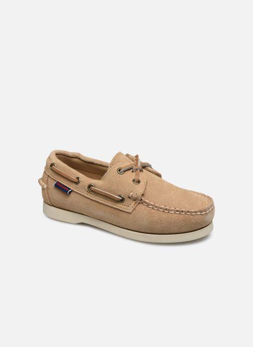 Chaussures à lacets Sebago PORTLAND SUEDE K Marron vue détail/paire