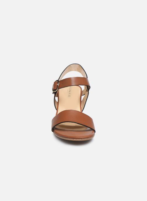 Sandales et nu-pieds Jonak FELICITA Marron vue portées chaussures
