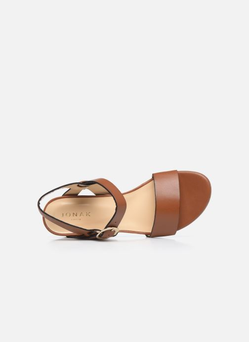 Sandales et nu-pieds Jonak FELICITA Marron vue gauche