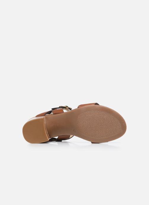 Sandales et nu-pieds Jonak FELICITA Marron vue haut