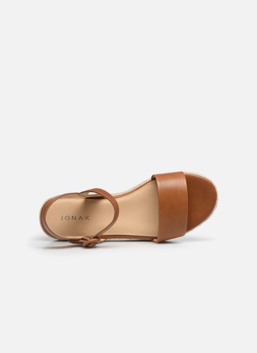 Sandali e scarpe aperte Jonak BALI Marrone immagine sinistra