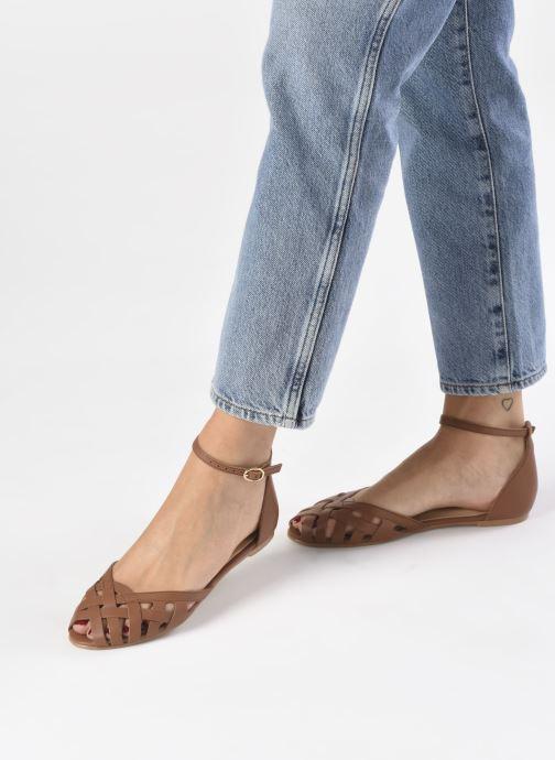 Sandales et nu-pieds Jonak DOO Marron vue bas / vue portée sac