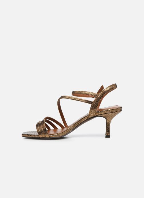 Sandali e scarpe aperte Jonak SHEILA Oro e bronzo immagine frontale