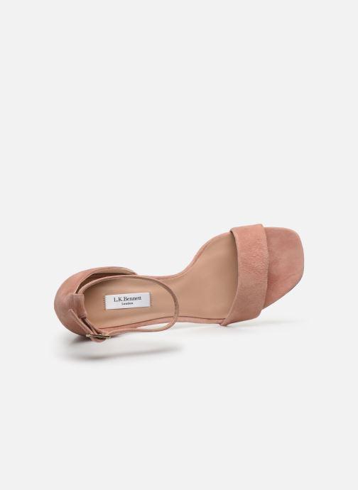 Sandali e scarpe aperte L.K. Bennett NISSI Rosa immagine sinistra