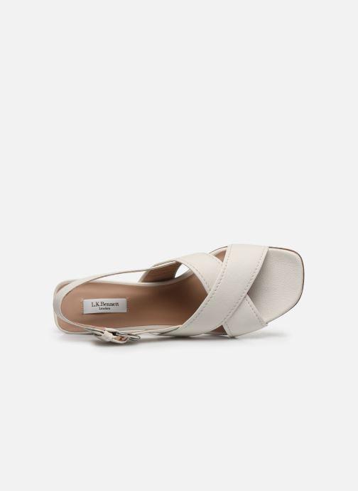 Sandales et nu-pieds L.K. Bennett NOAH Blanc vue gauche