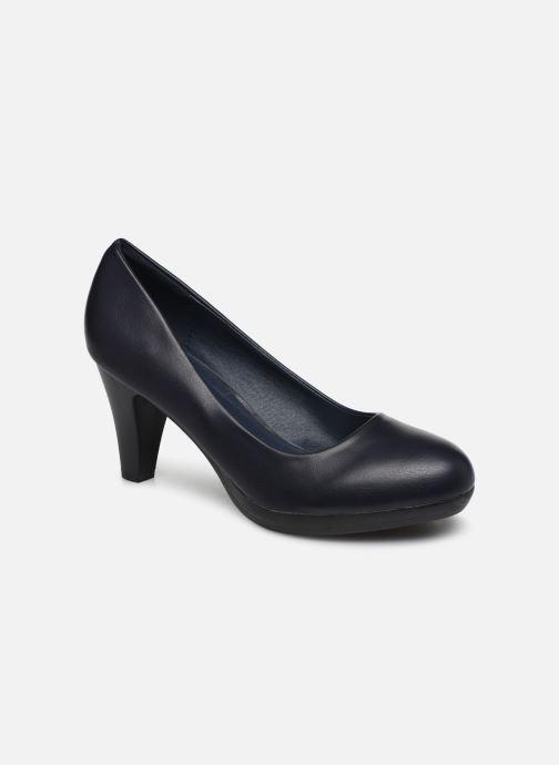 Høje hæle Initiale Paris Sotida Blå detaljeret billede af skoene