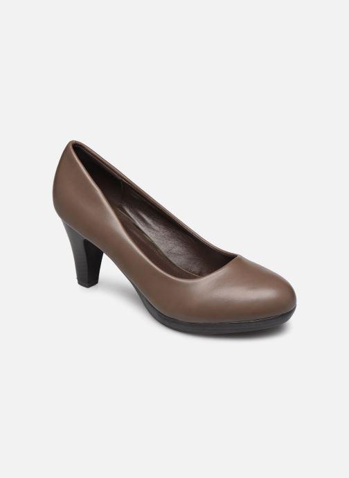 Høje hæle Initiale Paris Sotida Brun detaljeret billede af skoene