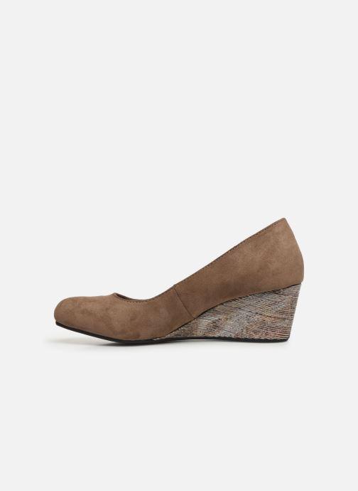 High heels Initiale Paris Croatie Brown front view