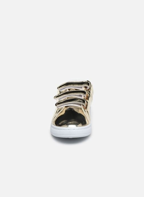 Trainers Initiale Paris Tehani Bronze and Gold model view