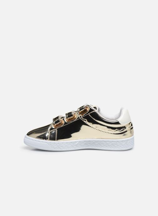 Trainers Initiale Paris Tehani Bronze and Gold front view