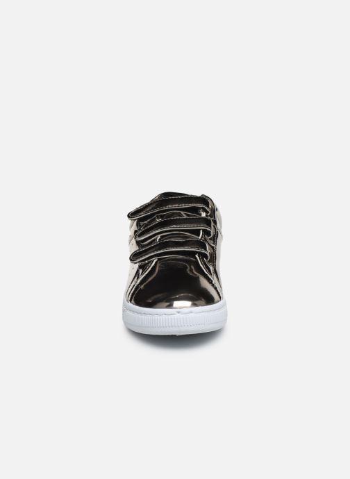 Baskets Initiale Paris Tehani Argent vue portées chaussures