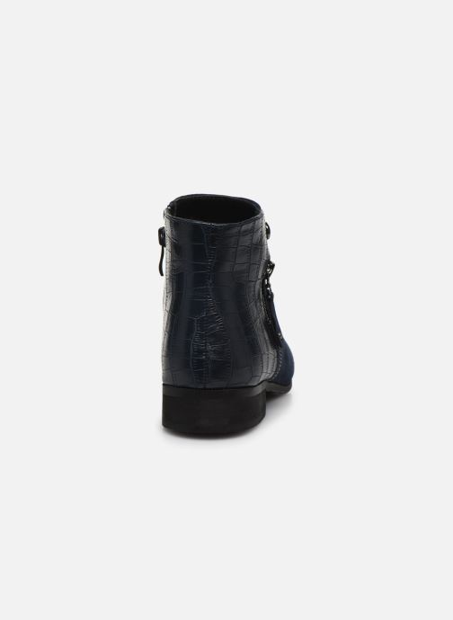 Ankle boots Initiale Paris Realite Blue view from the right