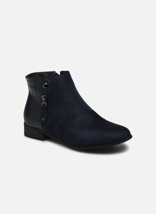 Ankelstøvler Initiale Paris Realite Blå detaljeret billede af skoene