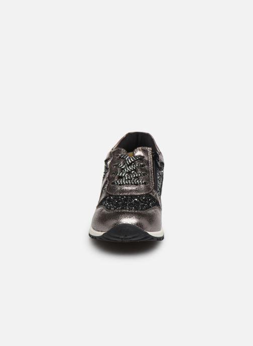 Baskets NA! Agena Argent vue portées chaussures