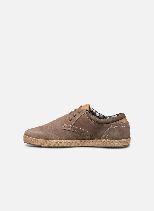 Zapatos con cordones Roadsign Lenkis Beige vista de frente