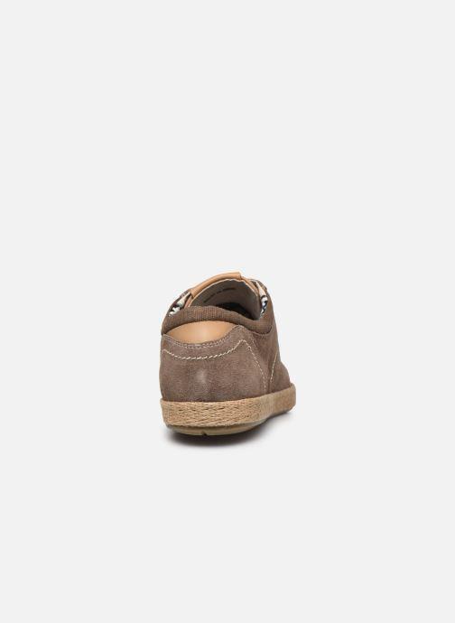 Zapatos con cordones Roadsign Lenkis Beige vista lateral derecha