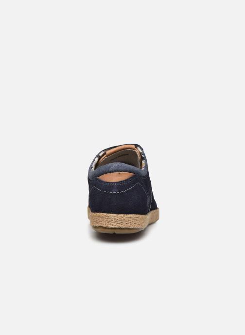 Zapatos con cordones Roadsign Lenkis Azul vista lateral derecha