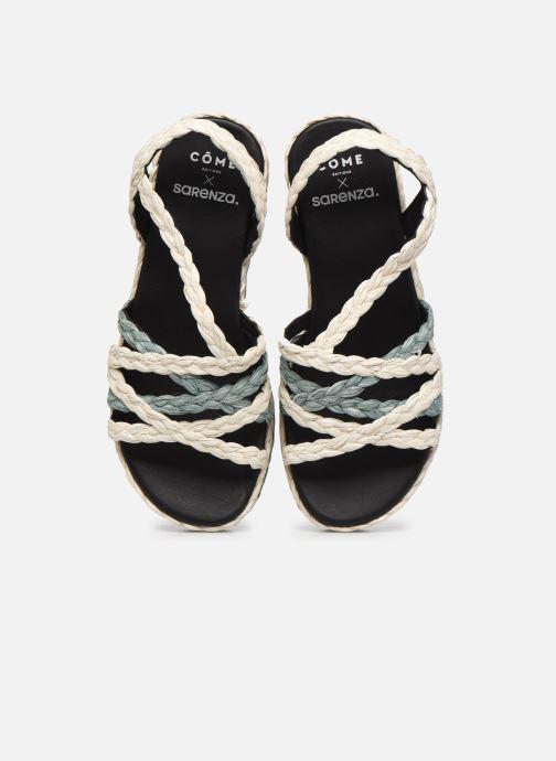 Espadrilles Made by SARENZA Sarenza x Côme Editions Sandales Plateforme Multicolore vue portées chaussures