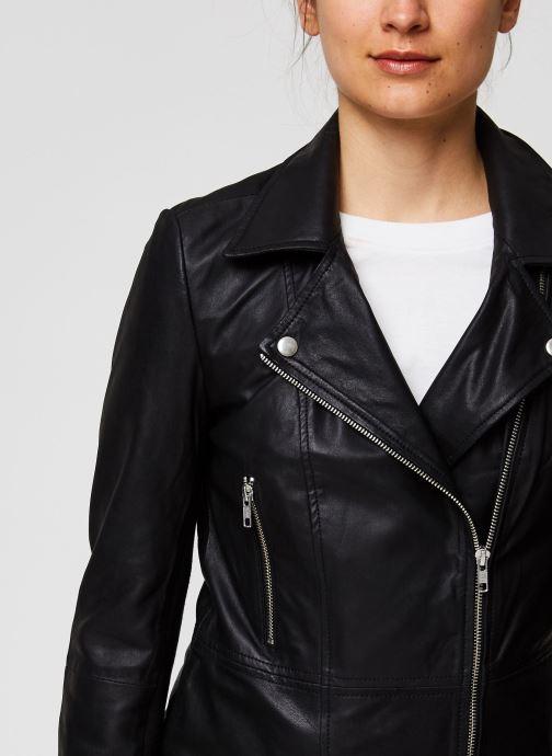 Vêtements Y.A.S YASSOPHIE LEATHER JACKET Noir vue face