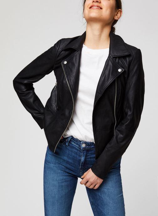 Vêtements Y.A.S YASSOPHIE LEATHER JACKET Noir vue détail/paire