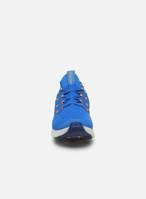 Scarpe sportive Skechers Go Run 7 Azzurro modello indossato