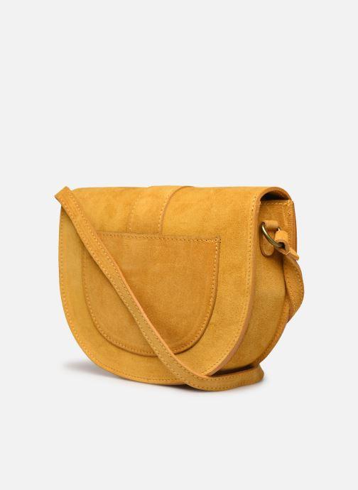Bolsos de mano Georgia Rose Mori Leather Amarillo vista lateral derecha