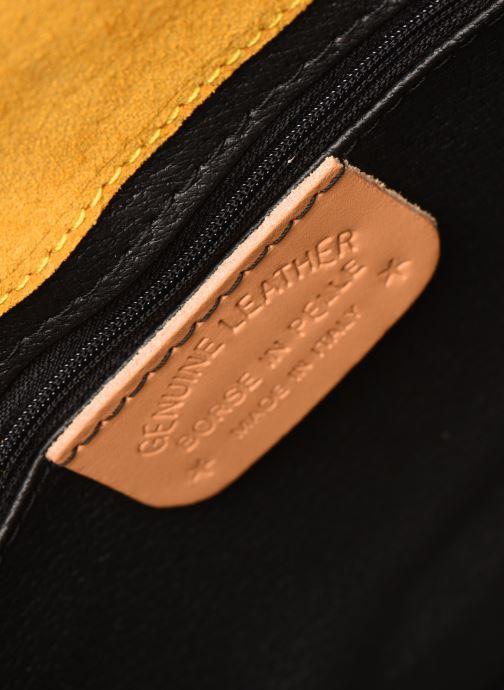 Bolsos de mano Georgia Rose Mori Leather Amarillo vistra trasera