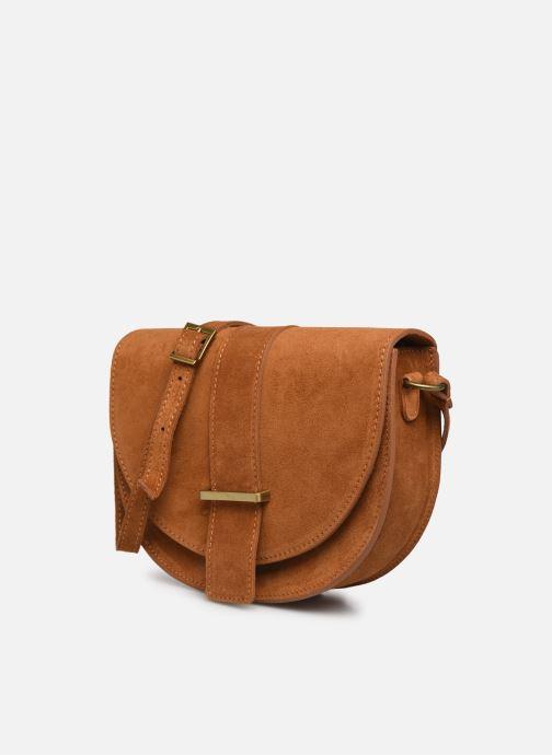 Handtaschen Georgia Rose Mori Leather braun schuhe getragen