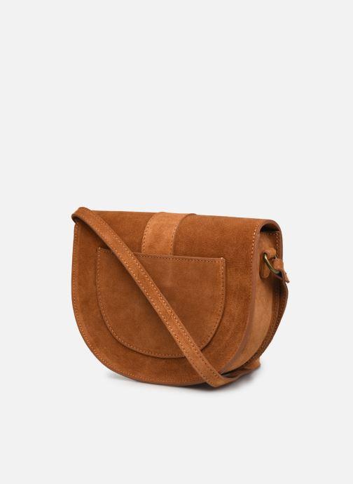 Handtaschen Georgia Rose Mori Leather braun ansicht von rechts