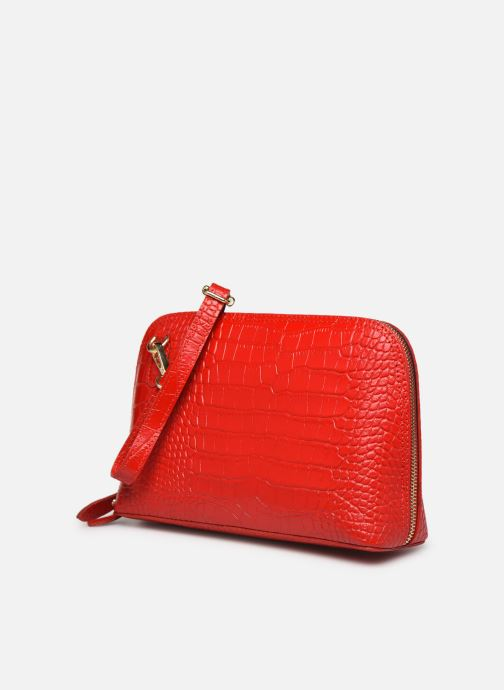 Bolsos de mano Georgia Rose Malta Leather Rojo vista del modelo