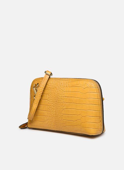 Bolsos de mano Georgia Rose Malta Leather Amarillo vista del modelo