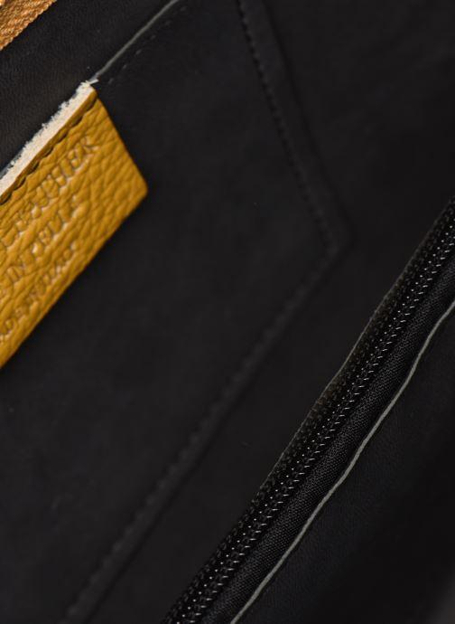 Bolsos de mano Georgia Rose Malta Leather Amarillo vistra trasera