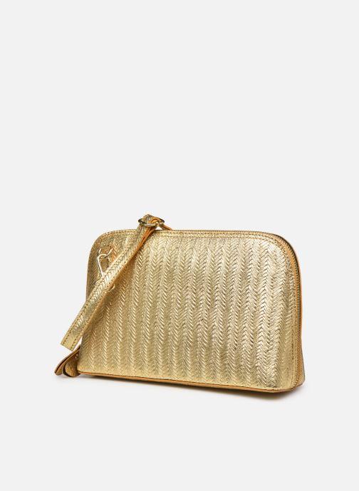 Bolsos de mano Georgia Rose Malta Leather Oro y bronce vista del modelo