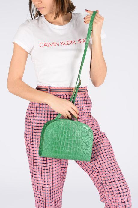 Handtaschen Georgia Rose Mirot Leather grün ansicht von unten / tasche getragen