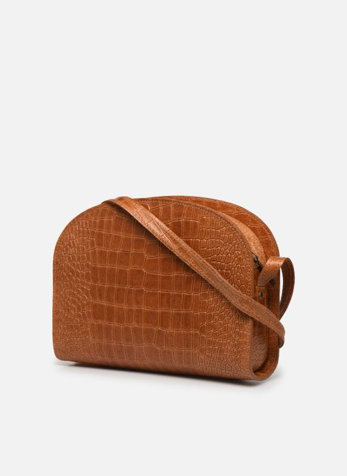 Handtaschen Georgia Rose Mirot Leather braun ansicht von rechts